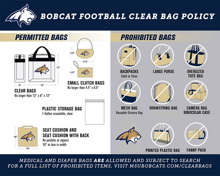 Clear Bag Policy info graphic.
